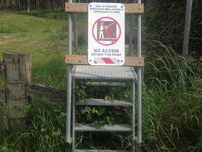 Temporary Anglers Access closure