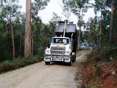 Road maintenance at Four Springs Lake