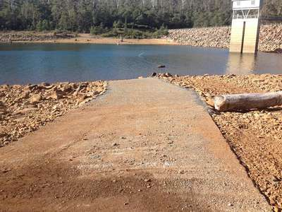 Repairs to the Dam Wall boat ramp are complete at Lake Echo