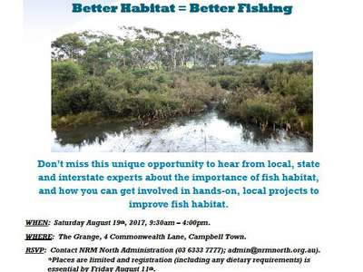 Anglers – get involved in improving fish habitat.