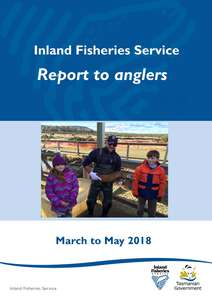 IFS quarterly report to anglers for March to May 2018 - cover page