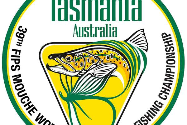 World Fly Fishing Championship 2019 circular logo in green and gold