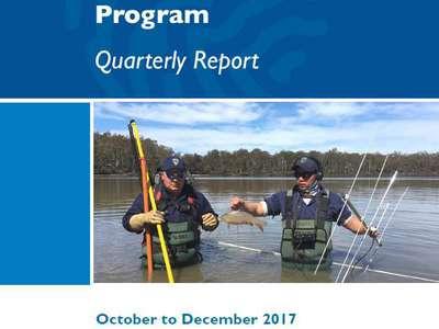 October to December 2017 Carp Management Program Quarterly Report