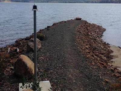 Woods Lake navigation light repaired